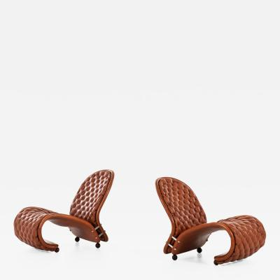 Verner Panton Easy Chairs Model System 1 2 3 Produced by Fritz Hansen