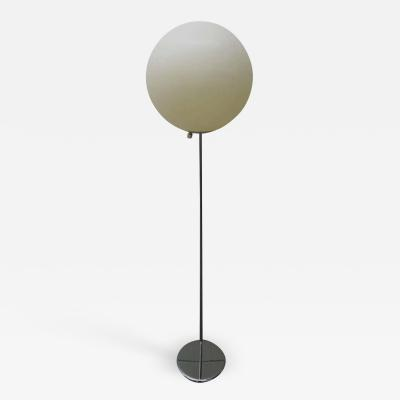 Verner Panton Fun Large Panton Style Ball Globe Floor Lamp with Chrome Base