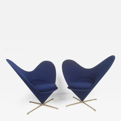 Verner Panton Heart Cone Chairs by Verner Panton