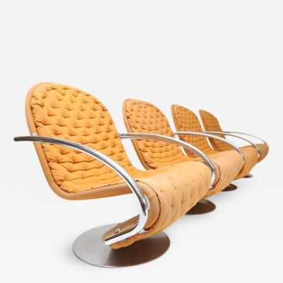 Verner Panton Set of 4 Verner Panton Armchairs