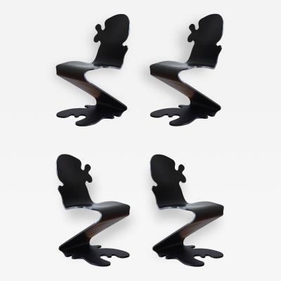 Verner Panton Set of Four Pantonic 5010 Chairs by Verner Panton for Studio Hag