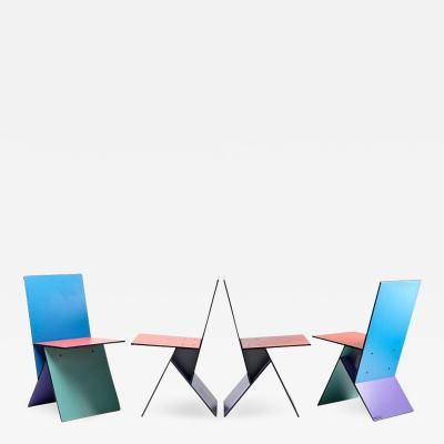 Verner Panton Set of Four Verner Panton Vilbert Chairs