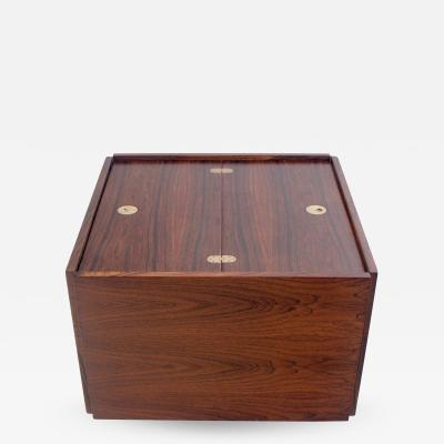 Verner Panton Unique Scandinavian Modern Rosewood Dry Bar Designed by Verner Panton