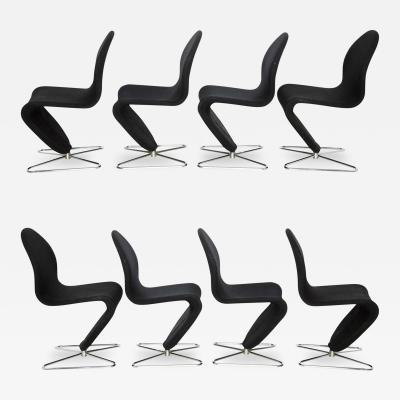 Verner Panton Verner Panton 1 2 3 System Chairs Set of Eight
