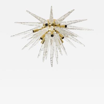 Veronese 1970s Stalactite Murano Glass Chandelier