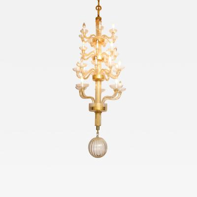 Veronese One of a kind Murano glass chandelier attributed to Veronese