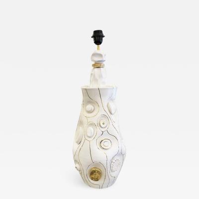 Veronique Rivemale Ceramic Table Lamp by Veronique Rivemale