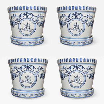 Versailles Flower Pot and Saucer Set of 4