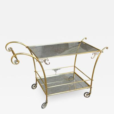 Very Chic Early 20th Century Cocktail Cart