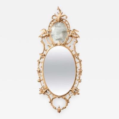 Very Fine George III Three Plate Oval Mirror