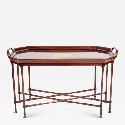 Very Fine Mahogany Wood Tray Table with Side Handles