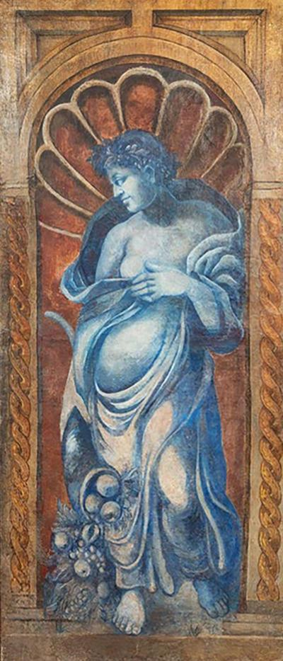 Very Large 16th Century Allegorical Oil Painting