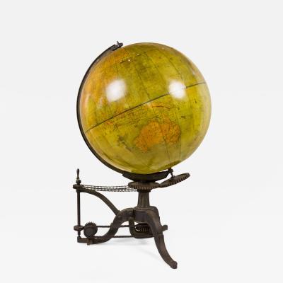 Very Large 19th Century World Globe France