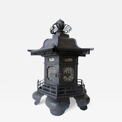 Very Large Antique Bronze Tsuri doro Hanging Temple Lantern