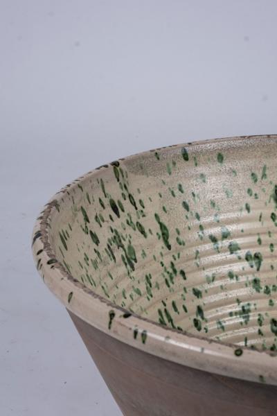Very Large Colorful Glazed Earthenware Passata Bowl