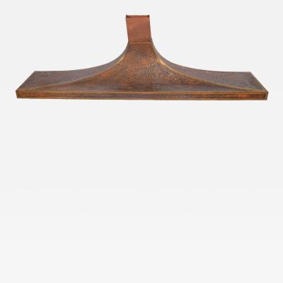 Very Large Copper Fireplace Vent Hood from Round House Dallas 1960s