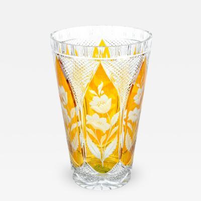Very Large Cut Crystal Decorative Vase