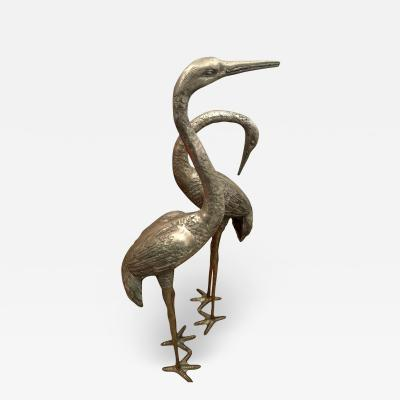 Very Large Herons in Solid Brass