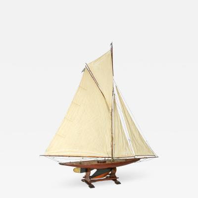 Very Large Scale English Pond Yacht circa 1920 on Later Stand