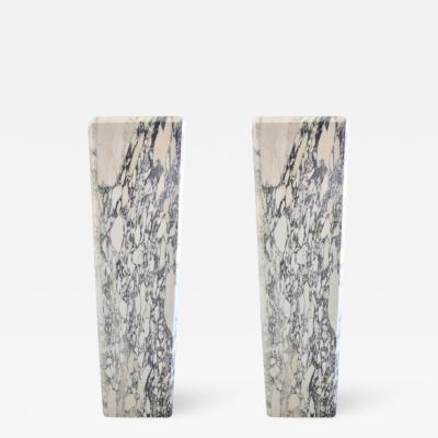 Very Rare Classic Pair of Marble Pedestal or Planters