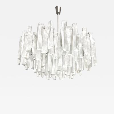 Very Rare Large Tiered Glass Chandelier by J T Kalmar