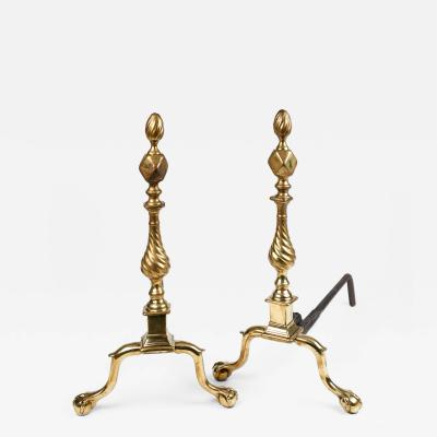 Very Rare New York Claw And Ball Andirons