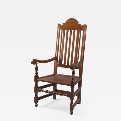 Very Rare Walnut Wainscot Arm Chair