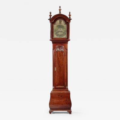 Very Rare and Possibly Unique Chippendale Bombe Tall Case Clock