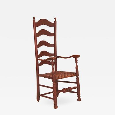 Very Tall Five Slat Ladderback Arm Chair
