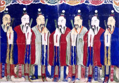 Very unusual Chinese gouache 19th C
