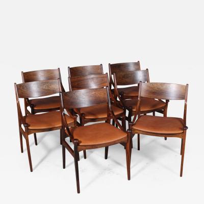 Vestervig Erikson Vestervig Eriksen Put on eight chairs of rosewood 8
