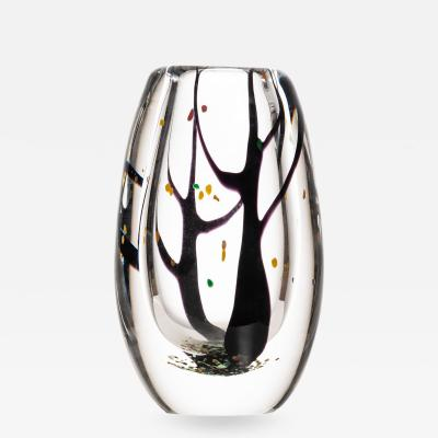 Vicke Lindstrand Vase Autumn Produced by Kosta in Sweden