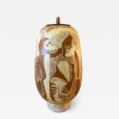 Vicke Lindstrand Vicke Lindstrand Ceramic Lamp for Upsala Ekeby