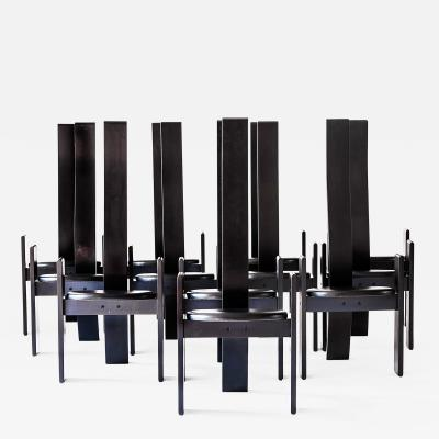 Vico Magistretti Exclusive Set of 12 Vico Magistretti Golem Chairs 1969