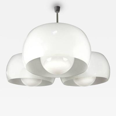 Vico Magistretti Large Triclinio White Glass Fixture by Vico Magistretti