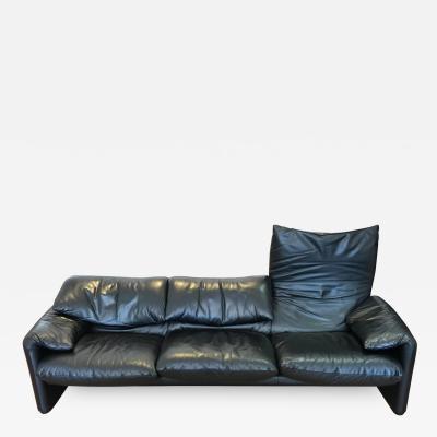 Vico Magistretti Maralunga Leather Sofa by Vico Magistretti for Cassina