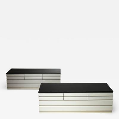 Vico Magistretti Pair of Samarcanda Chest of Drawers by Vico Magistretti for Poggi