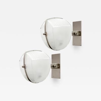 Vico Magistretti Pair of Vico Magistretti Omicron Wall Lights 1960