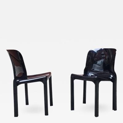 Vico Magistretti Selene Chairs by Vico Magistretti for Artemide 1960s