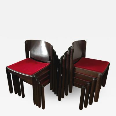 Vico Magistretti Set of 8 Dining Chairs