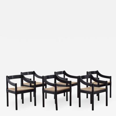 Vico Magistretti Vico Magistretti Carimate chairs Italy c1959