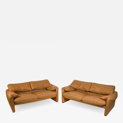 Vico Magistretti Vico Magistretti Maralunga Sofas for Cassina in Leather