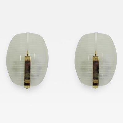 Vico Magistretti Vico Magistretti pair of Lambda wall lights for Artemide Italy 1961