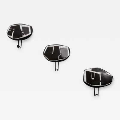 Victor Cerrato 3 glazed ceramic coat hanger