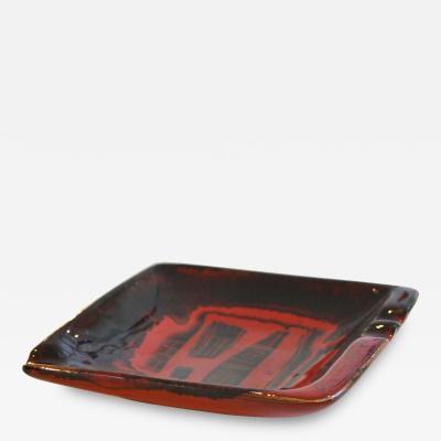 Victor Cerrato Ashtray or Centerpiece in Glazed Ceramic by Victor Cerrato