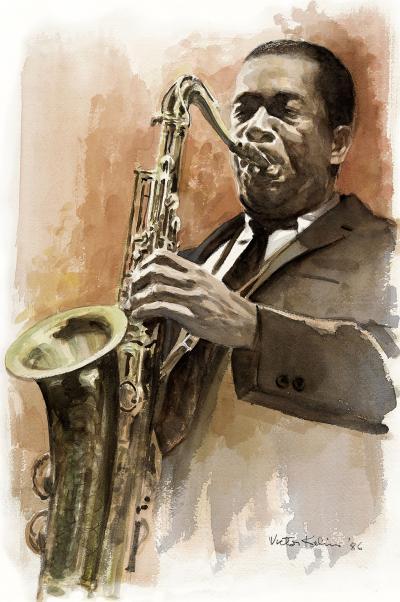 Victor Kalin John Coltrane Portrait
