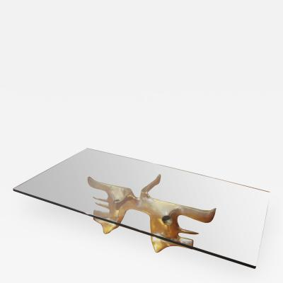 Victor Roman Beautiful Bronze Coffee Table by Victor Roman 1970s