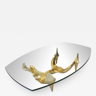 Victor Roman Bronze coffee table by Victor ROMA 1980