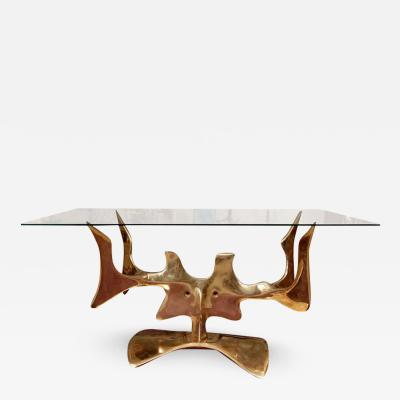 Victor Roman Important bronze Dinning table or Console By Victor Roman