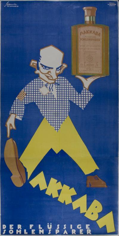 Victor Slama Austrian Art Deco Period Poster by Victor Slama circa 1928